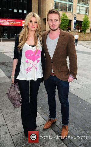 Charley Webb and Matthew Wolfenden arrive at the Lowery Theatre for the press night of 'Chorus' starring Jamie Lomas Manchester,...