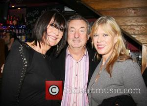 Sandie Shaw, Nick Mason and wife, Annnette Lynton Featured artist coalition Christmas knees up held at The Alley Cat pub...