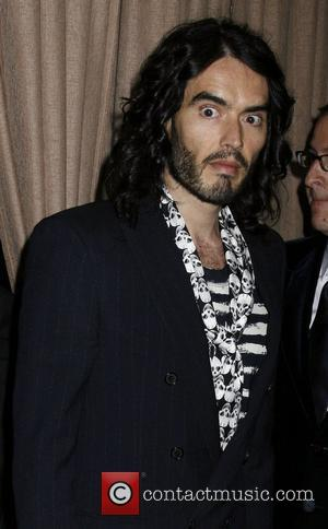 Russell Brand and Clive Davis