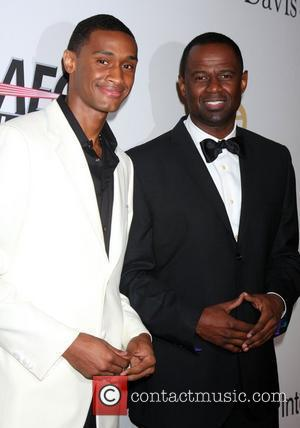 Brian McKnight and his son The 2010 Annual Clive Davis Pre-Grammy Party held at the Beverly Hilton - Arrivals Beverly...