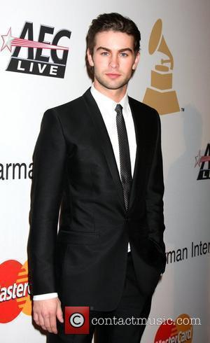 Chace Crawford and Clive Davis
