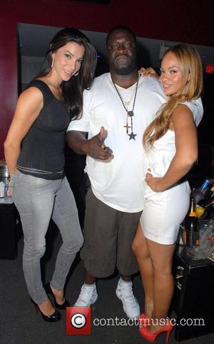 VH1 'Basketball Wives' Evelyn Lozada and Suzie Ketcham with founder and CEO of Poe Boy Music Group Elric 'E-Class' Prince...