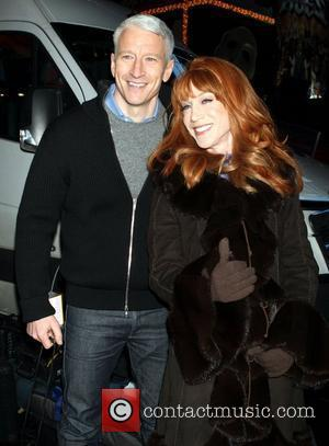 Anderson Cooper and Kathy Griffin arrive at Times Square to host CNN's live New Year's Eve show New York City,...