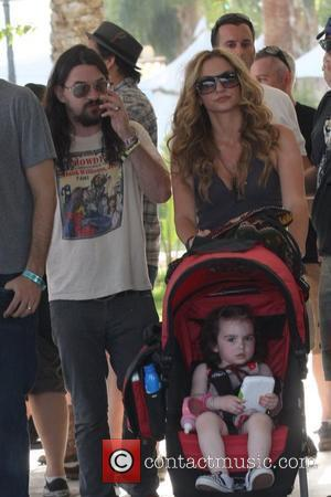 Shooter Jennings, Drea de Matteo and daughter Alabama Jennings at the 2010 Coachella Valley Music and Arts Festival - Day...