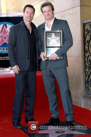 Guy Pearce and Colin Firth Colin Firth is honored with the 2,429th star on the Hollywood Walk of Fame Los...
