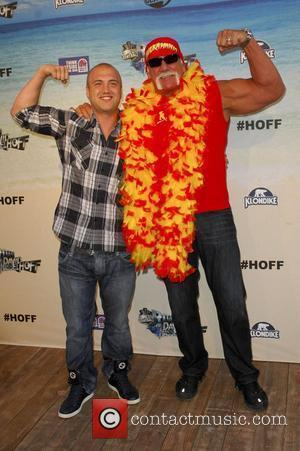Nick Hogan, David Hasselhoff and Hulk Hogan
