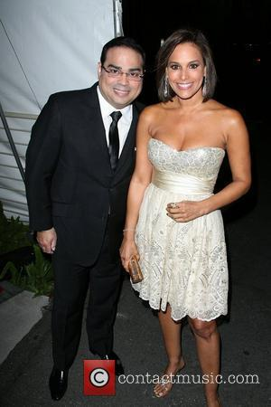 Gilberto Santa Rosa with his wife Padres Contra El Cancer's 25th Anniversary Gala held at the Hollywood Palladium - Arrivals...