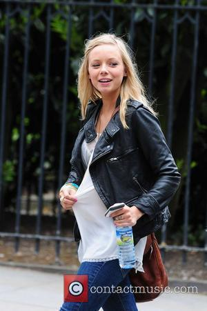 Sacha Parkinson arriving at Granada Studios to film 'Coronation Street' Manchester, England - 19.05.10