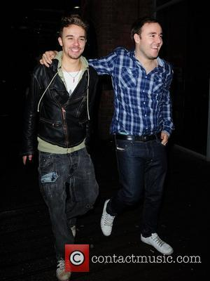 Alan Halsall and Jack P. Shepherd at Sukura bar after filming the live episode of Coronation Street for the soap's...