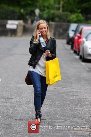 Sacha Parkinson arrives at The Granada studios complex to film 'Coronation Street.' Manchester England - 19.05.10