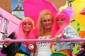 Brooke Vincent, Beverly Callard and Sacha Parkinson Manchester's Gay Pride parade Manchester, England - 28.08.10