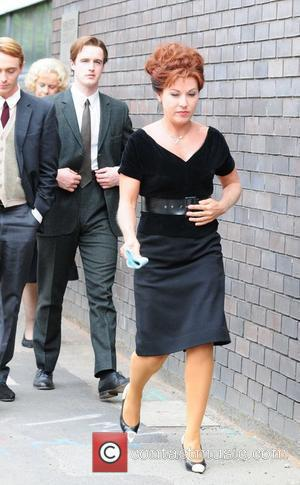 Jessie Wallace  Florizel Street' the prequel to Coronation Street being filmed on location Manchester, England - 08.07.10
