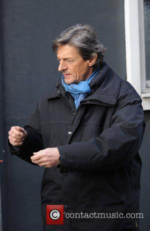 Nigel Havers  leaves the set of the TV soap 'Coronation Street' Manchester, England - 10.02.10