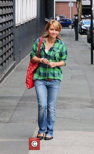 Samia Smith arrives at Granada studios to film coronation street.