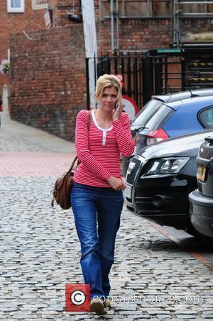 Jane Danson  'Coronation Street' stars arriving at the Granada Television studios. Manchester, England - 30.07.10