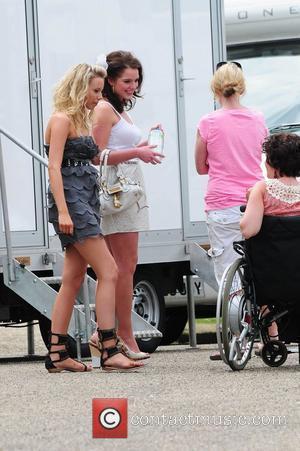 Helen Flanagan, Sacha Parkinson, Cherry Houston  'Coronation Street' Wedding filming on Location.  Manchester, England - 25.06.10