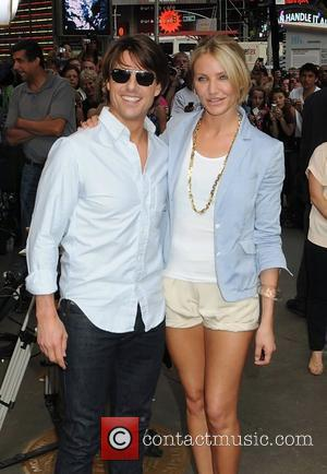 Tom Cruise and Cameron Diaz film a segment for ABC's 'Good Morning America' to promote the film 'Knight and Day'...