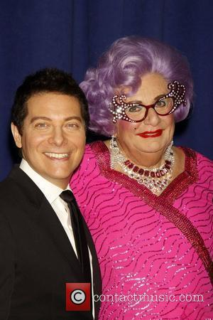 Dame Edna Everage and Michael Feinstein  A photocall for the upcoming Broadway show 'All About Me' held at New...