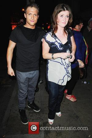 Chris Fountain and his mother Kieron Richardson's party at Tribeca Bar to say goodbye to Brianne Delcourt who is leaving...