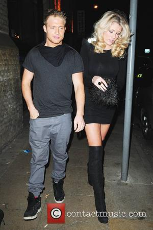 Chris Fountain with Amy Diamond  Kieron Richardson's party at Tribeca Bar to say goodbye to Brianne Delcourt who is...