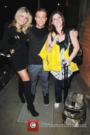 Chris Fountain and Amy Diamond with his mother Kieron Richardson's party at Tribeca Bar to say goodbye to Brianne Delcourt...