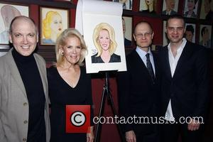 Charles Busch, Daryl Roth, David Hyde Pierce, and Jordan Roth Daryl Roth's caricature unveiled at Sardi's New York City, USA-13.01.10