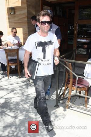 David Faustino leaving Enoteca Drago Restaurant in Beverly Hills Los Angeles, California - 12.05.10