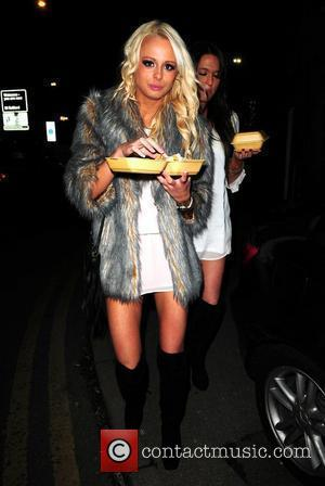 Rhian Sugden Celebrities leave the MEN Arena to attend David Haye's fight after party at Bijou Club Manchester, England -...