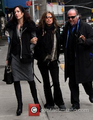 Liv Tyler, Steven Tyler Celebrities outside the Ed Sullivan Theater for 'The David letterman Show' in New York City. New...