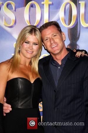 Alison Sweeney, husband arrives at the Days of Our Lives 45th Anniversary Party at House of Blues. West Hollywood, California...