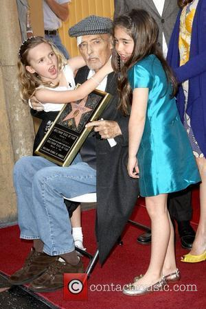 Dennis Hopper and His Granddaughters
