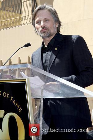 Viggo Mortensen speaking at the ceremony Dennis Hopper is honored with the 2,403rd Star on the Hollywood Walk of Fame...