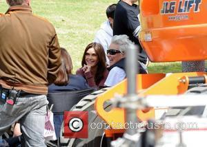 Teri Hatcher on the film set for 'Desperate Housewives' in Toluca Lake Los Angeles, California - 01.03.10