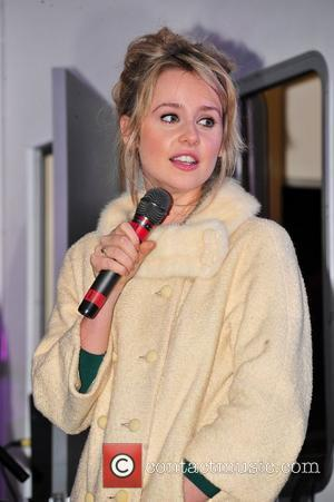 Diana Vickers Switches on the Christmas Lights in her hometown  Blackburn, England - 18.11.10