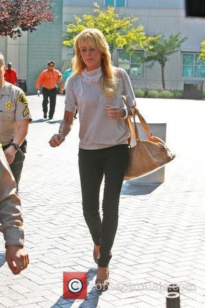 Dina Lohan leaving Lynwood Correctional Facility after visiting her daughter Lindsay Lohan who is serving a 90 day jail term...