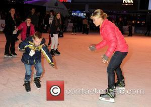 Alison Sweeney and son Ben Disney On Ice presents 'Let's Celebrate!' held at L.A. LIVE.  Los Angeles, California -...