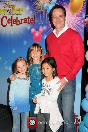 Tim DeKay and his family Disney On Ice presents 'Let's Celebrate!' held at L.A. LIVE.  Los Angeles, California -...