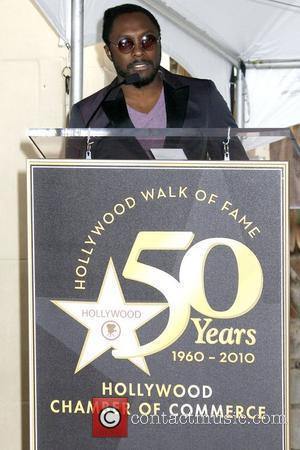 will.i.am of the 'Black Eyed Peas' Music Mogul Doug Morris honoured with the 2,399th star on the Hollywood Walk of...
