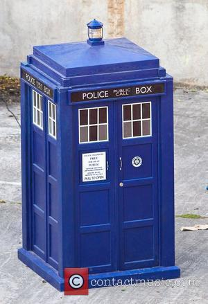 The Tardis 'Doctor Who' filming on location in the south west of the country. England - 21.09.10