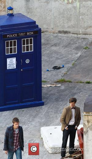 Arthur Darvill and Matt Smith 'Doctor Who' filming on location in the south west of the country. England - 21.09.10