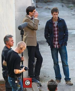 Matt Smith and Arthur Darvill 'Doctor Who' filming on location in the south west of the country. England - 21.09.10