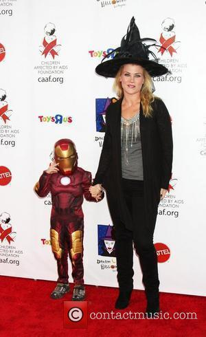 Alison Sweeney and son Ben 17th Annual Dream Halloween to benefit the Children Affected by Aids Foundation held at The...