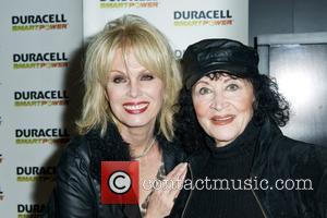 Joanna Lumley and Chita Rivera Launch of Duracell Mobile Smart Power Lab at 46th and 8th Avenue  New York...