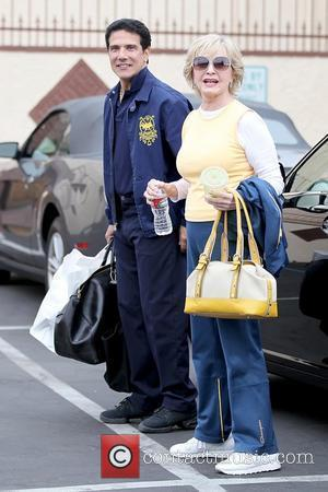 Dancer Corky Ballas and Florence Henderson Celebrities outside a dance studio for a rehearsal for the upcoming season 11 of...