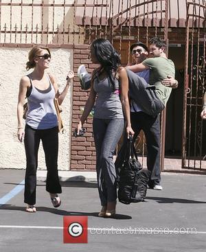 Audrina Patridge, Brandy and Maksim Chmerkovskiy Celebrities outside the 'Dancing With The Stars' rehearsal studio USA Los Angeles, USA -...