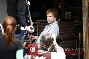Michael C. Hall on the film set for 'East Fifth Bliss' filming in Manhattan New York City, USA - 21.04.10