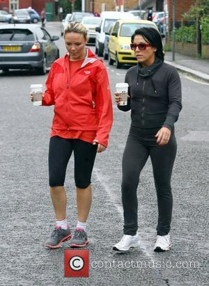 Jessie Wallace and Charlie Brooks take a break from filming 'Eastenders' to go for a run and grab some lunch...