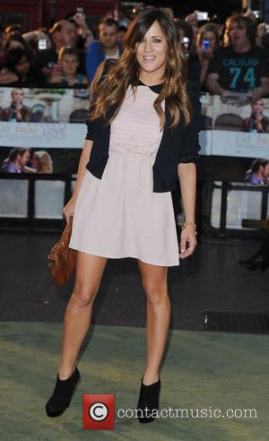 Caroline Flack 'Eat, Pray, Love' UK film premiere held at the Empire Leicester Square - Arrivals  London, England -...