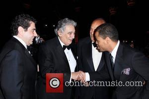 Placido Domingo, Oscar De La Renta and Moises De La Renta