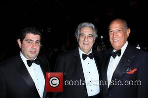 Placido Domingo and Oscar de la Renta 2010 El Museo del Barrio gala at Cipriani 42nd Street New York City,...